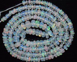 27.30 Ct Natural Ethiopian Welo Opal Beads Play Of Color OA131
