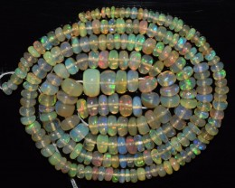 39.00 Ct Natural Ethiopian Welo Opal Beads Play Of Color OA132