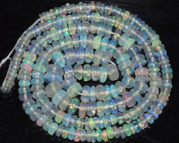 36.25 Ct Natural Ethiopian Welo Opal Beads Play Of Color OA134