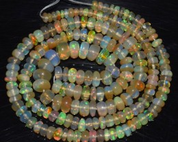 41.95 Ct Natural Ethiopian Welo Opal Beads Play Of Color OA135
