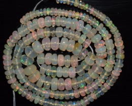 38.80 Ct Natural Ethiopian Welo Opal Beads Play Of Color OA136