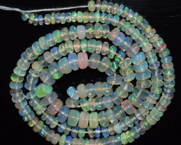 40.80 Ct Natural Ethiopian Welo Opal Beads Play Of Color OA139