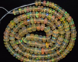 39.45 Ct Natural Ethiopian Welo Opal Beads Play Of Color OA140