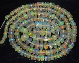 38.35 Ct Natural Ethiopian Welo Opal Beads Play Of Color OA142