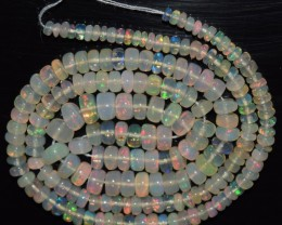 37.90 Ct Natural Ethiopian Welo Opal Beads Play Of Color OA145