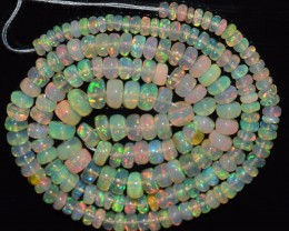 44.30 Ct Natural Ethiopian Welo Opal Beads Play Of Color OA146