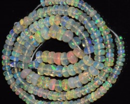 42.25 Ct Natural Ethiopian Welo Opal Beads Play Of Color OA147