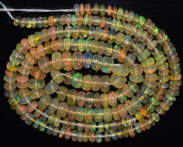 35.05 Ct Natural Ethiopian Welo Opal Beads Play Of Color OA148