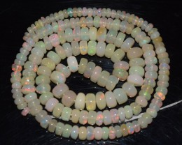 47.30 Ct Natural Ethiopian Welo Opal Beads Play Of Color OA151