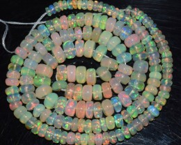 50.50 Ct Natural Ethiopian Welo Opal Beads Play Of Color OA152