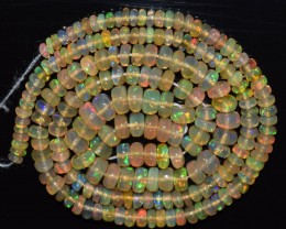 34.50 Ct Natural Ethiopian Welo Opal Beads Play Of Color OA155