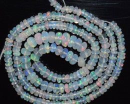 26.80 Ct Natural Ethiopian Welo Opal Beads Play Of Color OA156