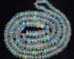 40.75 Ct Natural Ethiopian Welo Opal Beads Play Of Color OA159