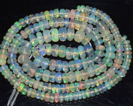 39.85 Ct Natural Ethiopian Welo Opal Beads Play Of Color OA164