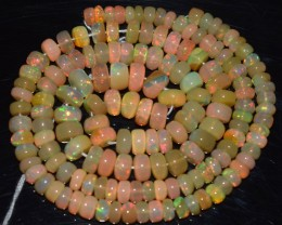 56.20 Ct Natural Ethiopian Welo Opal Beads Play Of Color OA165