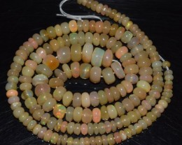 46.85 Ct Natural Ethiopian Welo Opal Beads Play Of Color OA172