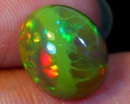 3.38ct Dark Tone Grenish Ethiopian Welo Polished Opal