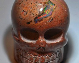 CARVED SKULL MATRIX OPAL HIGH QUALITY CRAFTMANSHIP