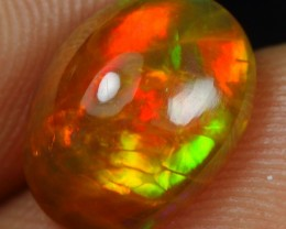 2.60cts Red Green Bumblebee Ethiopian Opal