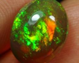 Video-3.10cts Full Saturation Flash Green Orange Fire Ethiopian Opal