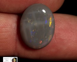 4.95 carat Oval Allens Rise black opal - double sided fire