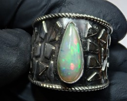 6.5sz SOLID  OPAL HIGH QUALITY .925 STERLING FABULOUS RING