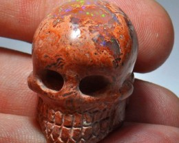 MEXICAN MATRIX OPAL SKULL BRIGHT CARVED QUALITY CRAFTMANSHIP