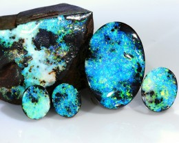 12ct 16-6mm Full set of Boulder opal [LOB-1841]