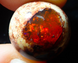 $1 NR Auction 13.1ct Mexican Matrix Cantera Multicoloured Fire Opal