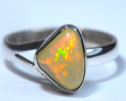 Sz6.5 SOLID WELO OPAL HIGH QUALITY .925 STERLING FABULOUS RIN6