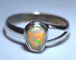 Sz7.5  WELO OPAL HIGH QUALITY .925 STERLING FABULOUS RIN6