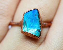 10.70CT OPAL RING WITH ELECTRIC FORM COPPER(RAW)  OI473