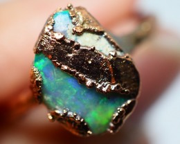13.20CT OPAL RING WITH ELECTRIC FORM COPPER(RAW)  OI476