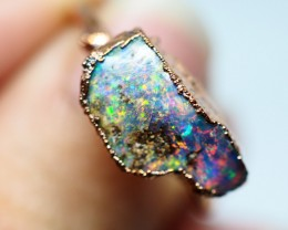11.95CT OPAL RING WITH ELECTRIC FORM COPPER(RAW)  OI484