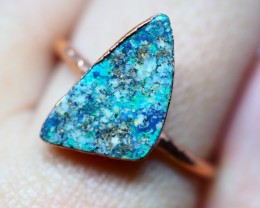11.25CT OPAL RING WITH ELECTRIC FORM COPPER(RAW)  OI86