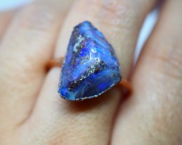 18.45CT OPAL RING WITH ELECTRIC FORM COPPER(RAW)  OI488