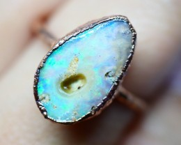 12.50CT OPAL RING WITH ELECTRIC FORM COPPER(RAW)  OI489