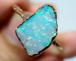 10.35CT OPAL RING WITH ELECTRIC FORM COPPER(RAW)  OI491