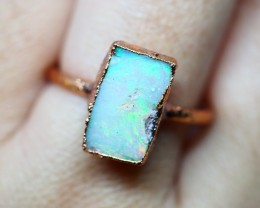 10.45CT OPAL RING WITH ELECTRIC FORM COPPER  OI493