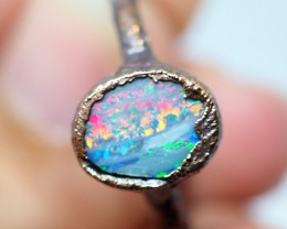 9.55CT OPAL RING WITH ELECTRIC FORM COPPER  OI497