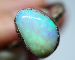 16.65CT OPAL RING WITH ELECTRIC FORM COPPER  OI498