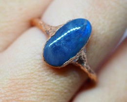 9.75CT OPAL RING WITH ELECTRIC FORM COPPER  OI502