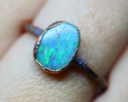 7.70CT OPAL RING WITH ELECTRIC FORM COPPER  OI503