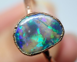 8.60CT OPAL RING WITH ELECTRIC FORM COPPER  OI506