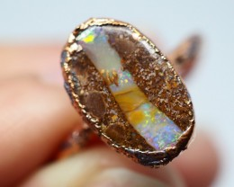 10.80CT OPAL RING WITH ELECTRIC FORM COPPER  OI508
