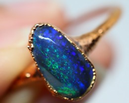 9.30CT OPAL RING WITH ELECTRIC FORM COPPER  OI511