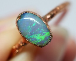 7.20CT OPAL RING WITH ELECTRIC FORM COPPER  OI514