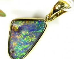 green multi fire Boulder Opal Pendant SCO26
