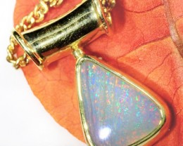 RADIANT MULTI COLOUR FIRE FLASH 18K GOLD PENDANT SCO23
