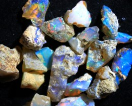 Cts 50.90   RC  371   .  Parcel Rough Ethiopian Wello Opal   ~ 15 stones